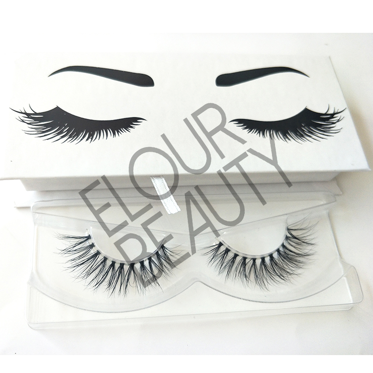 3D mink invisible band falsies lashes private label China ED55